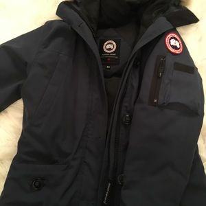 Woman's thigh length winter jacket